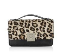 Guess Tasche - Jac Crossbody Flap Bag Black Multi - in schwarz - Umhängetasche für Damen