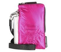 Pochette K/Ikonik Nylon Dpouch Metallic Pink/Silver