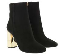 Boots Single Sole Petra Bootie Galvanized Heel Black