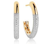 Ohrringe Cannara Grande Earrings White Zirconia 18K Gold Plated