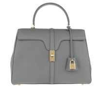 Satchel Bag 16 Medium Grained Calfskin Grey