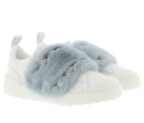Sneakers Mink Fur White/Grey Sneakers