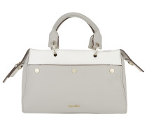 Le4 Duffle Bag Taupe / White Bowling Bags weiß