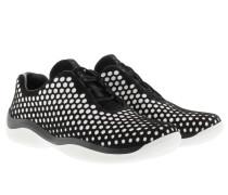 Sneakers - Calzature Donna Camosico Sneaker Nero/ Bianco