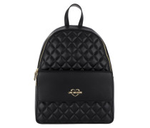 Backpack Quilted Nero Rucksack