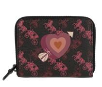 Portemonnaie Canvas Heart Small Zip Around Wallet