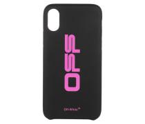 Smartphone Case Off Carryover iPhone XS Black/Fuchsia