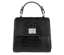 Tasche - Bespoke Micro-CS Tophandle Shiny Cocco Print Black
