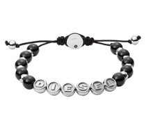 Armband Stainless Steel Semi-Precious Beaded Bracelet Black