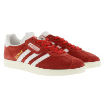 Gazelle Super Suede Sneakerss Red/Vintage White/Gold Metallic