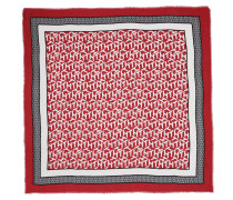 Accessoire Monogram Frame Square Scarf Red