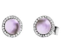 Ohrringe Earrings Amethyst White Gold/Violet