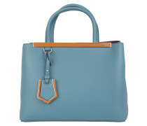 Tasche - Petite 2Jours Vitello Dolce/Vitello Bicolor Cerul - in blau - Henkeltasche für Damen