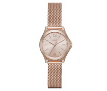 Parsons Stainless Steel Rosegold Mesh Watch Armbanduhr rosa