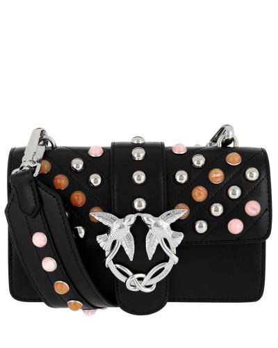 Pinko Damen Mini Love Stones Shoulder Bag Nero/Multicolor Tasche