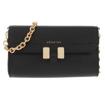 Umhängetasche Amal Handle Bag Black/Black/Gold
