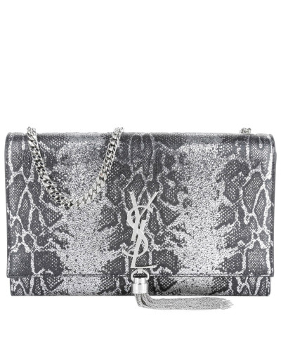 saint laurent damen saint laurent tasche ysl monogramme tassel satchel black silver in. Black Bedroom Furniture Sets. Home Design Ideas