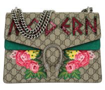 Dionysus Embroidered Shoulder Bag Beige grün