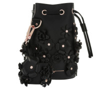 Kasper Flowers Bucket Bag Black Beuteltasche