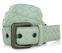 Kleinleder - Intrecciato Nappa Belt Mint Green