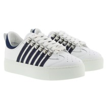 Sneakers Stripe Side White/Denim
