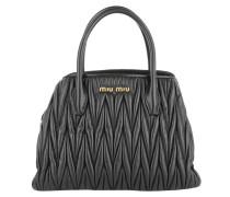 Tasche - Borsa Matelassé Leather Crossbody Tote Black