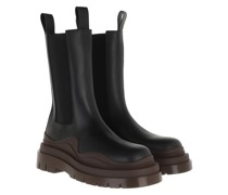 Boots Tire Boot Leather Black Brown