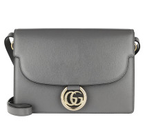 Umhängetasche GG Ring Shoulder Bag Leather Grey