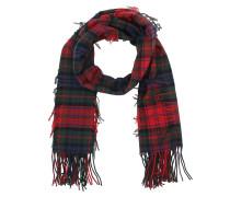 Tartan Wool Cashmere Scarf Bright Red Schal rot