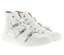 Kyle Buckled Hi-Top Sneakers White