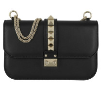 Rockstud Medium Shoulder Bag Black