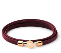 Armband Nexus Wrap Bracelet Gold Vermeil Polished S Oxblood