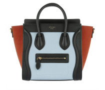 Nano Luggage Calfskin Tote Pale Blue Umhängetasche orange