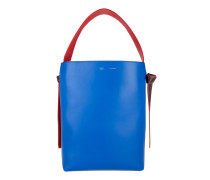 Tasche - Small Twisted Upright Tote Electric Blue/Moss Green - in rot, braun, blau - Henkeltasche für Damen