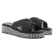 Sandalen - Tabea Low Wedge Printed Black