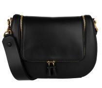 Vere Satchel Bag Black Natural Calf