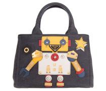 Denim Robot Shopping Bag Bleu + Mimosa Umhängetasche blau