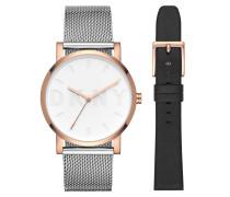 Soho Watch Rosegold Armbanduhr silber