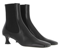 Boots Heeled Bootie Leather Nero
