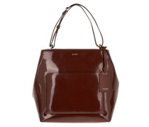 North/South Tote Patent Leather/Buttercalf Trim Lacquer