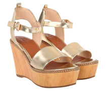 Sandalen - Kleia High Wedge Sandal Gold