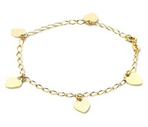 Armband 14KT Heart Bracelet 19cm