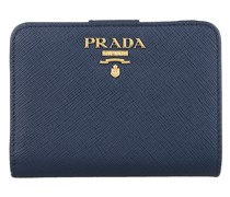 Portemonnaie Small Wallet Saffiano Leather Blue