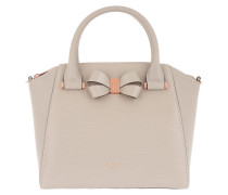 Charmea Bow Detail Small Tote Taupe