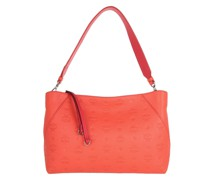 Hobo Bag Klara Leather Shoulder Medium Hot Coral