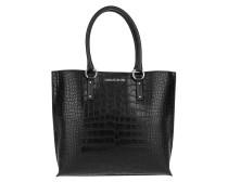 Tasche - Croco Shopper NS Black