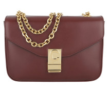 Umhängetasche C Bag Medium Calfskin Burgundy