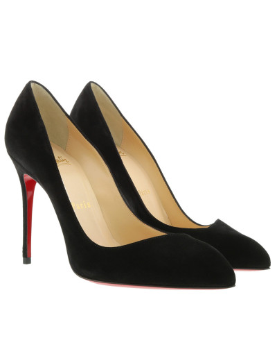 Pumps Decollete Alto Corneille 100 Suede Black schwarz