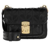 Umhängetasche Patchwork Motif Crossbody Bag Leather Nero