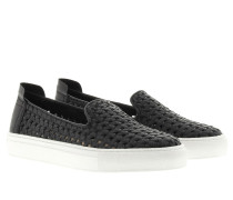 Loafers & Slippers - Burke Nappa Basket Weave Black